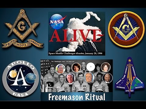 NASA, Challenger Mission, Freemason Ritual