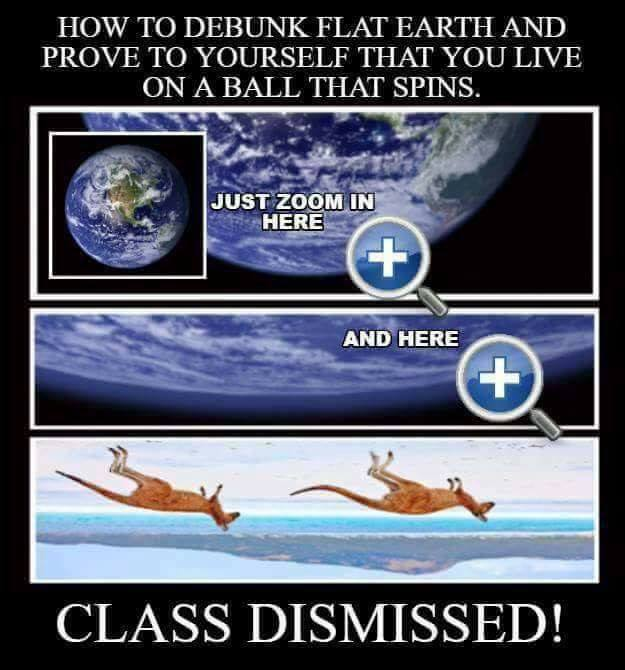 Upside Down Kangaroos Debunk Flat Earth FEMemes