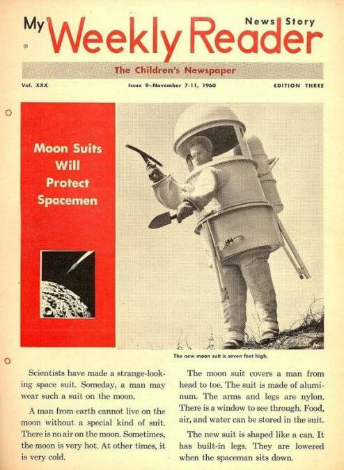 1960 Moon Suit, Space Suit, Can Shaped, Children's Weekly Reader