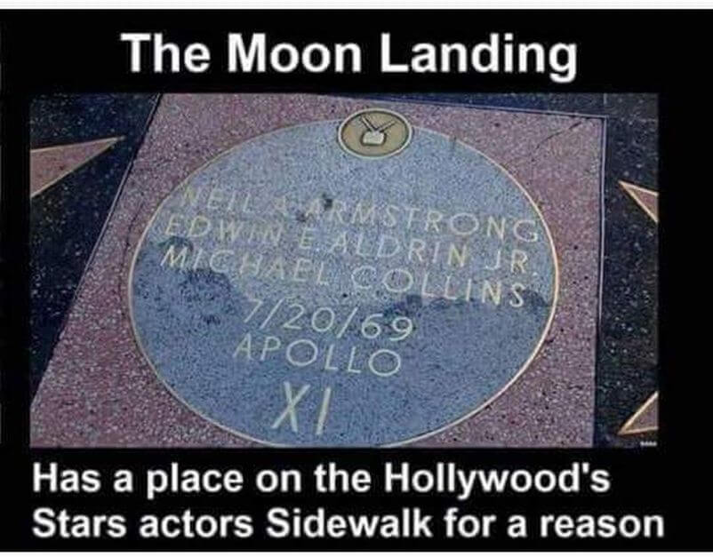 Moon Landing Movie Plaque, Hollywood Actors Walk of Fame