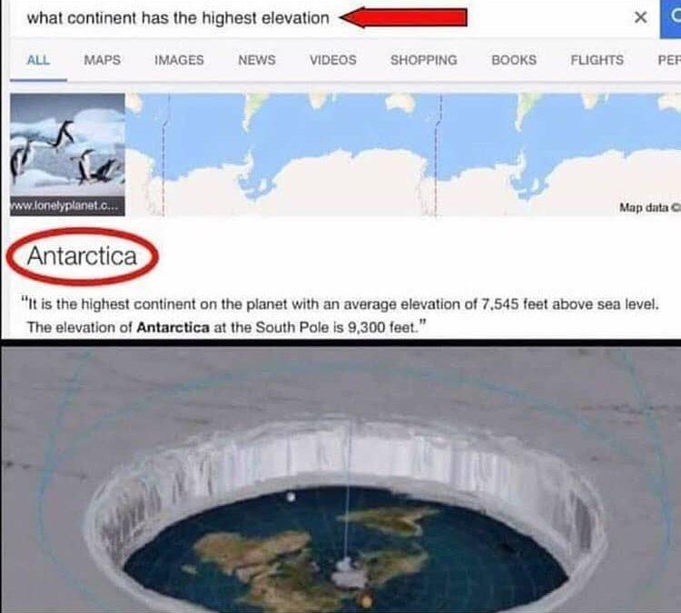 Antartica Average Elevation 9300 Feet FEMemes