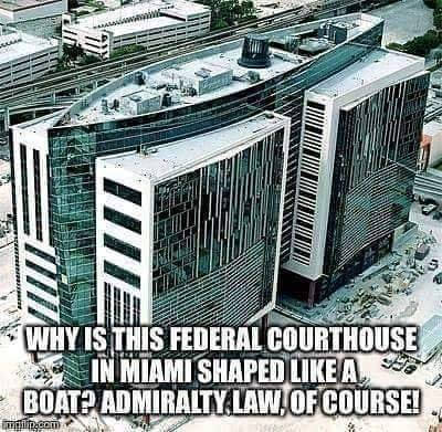 Miami Courthouse Shaped Like A Ship For Admiralty Law Inside