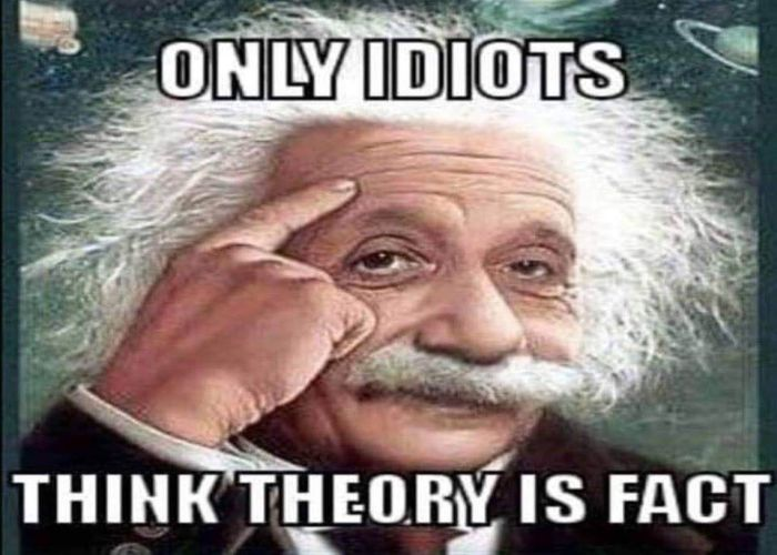 Only Idiots Think Theory Is Fact FEMemes